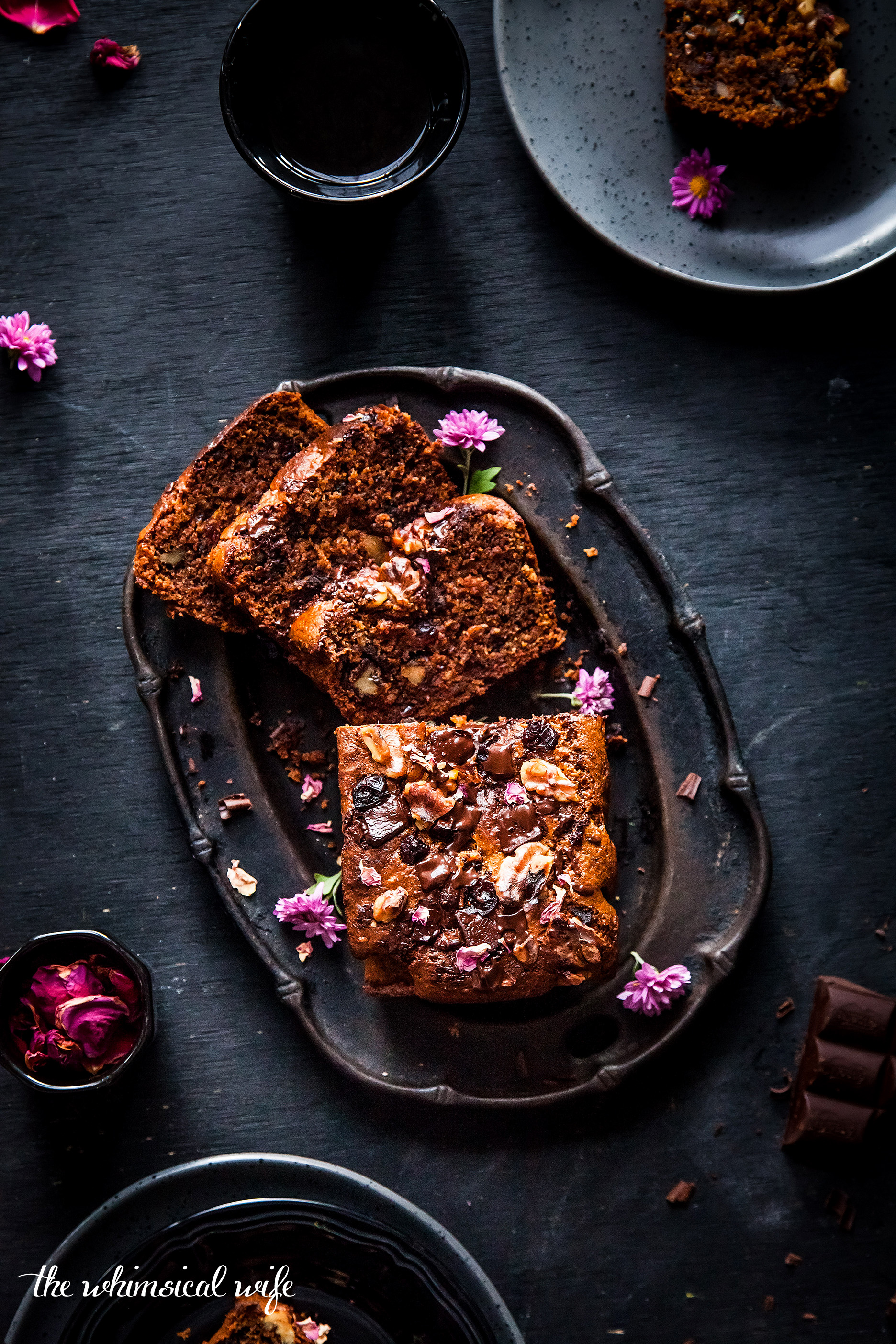 30 Cakes In 30 Days | 4. Dark Chocolate, Cranberry & Walnut Spiced Pumpkin Bread {GF, DF, Vegan} | The Whimsical Wife