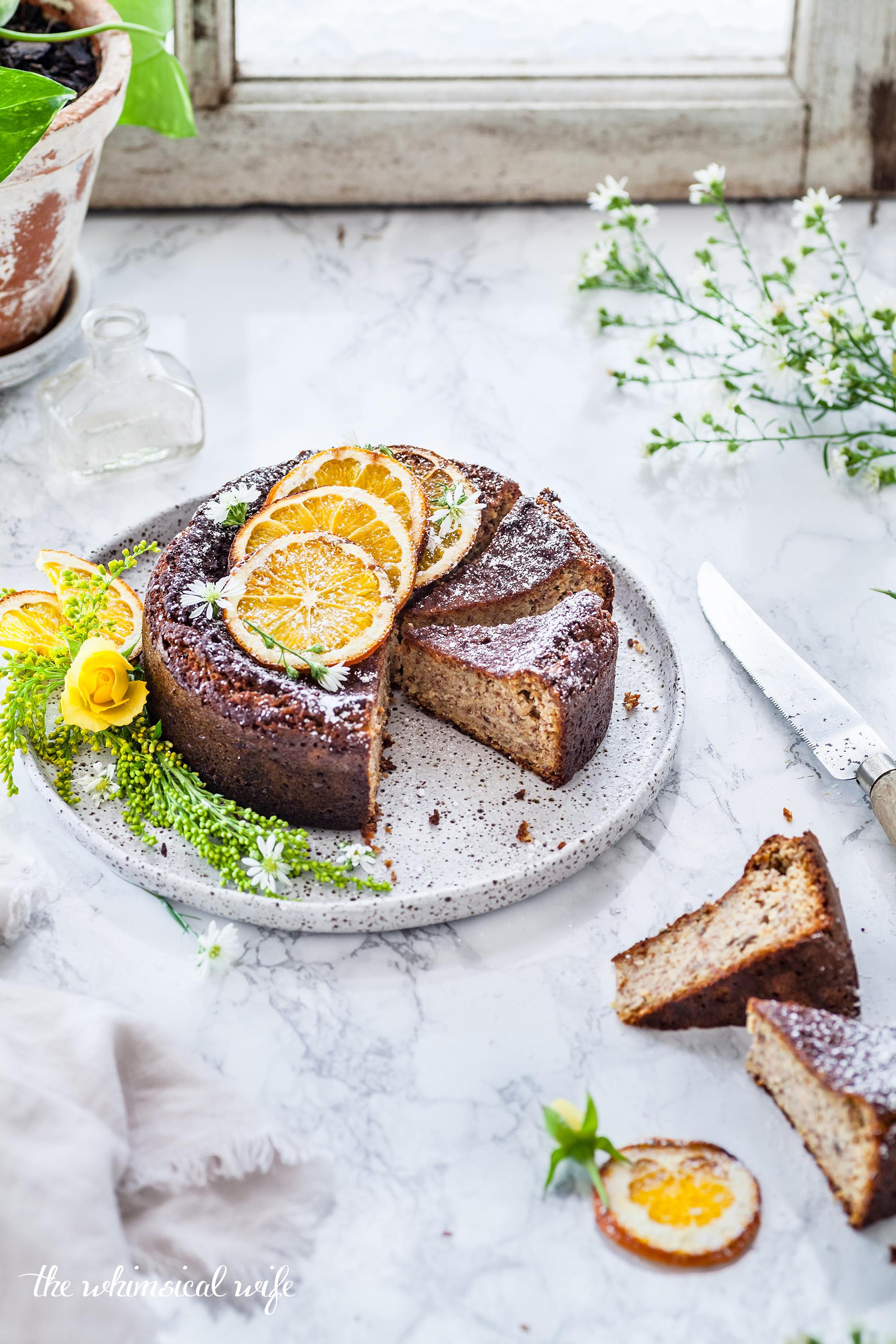 30 Cakes In 30 Days | 5. Orange & Almond Cake {Vegan, Gluten & Dairy Free} | The Whimsical Wife