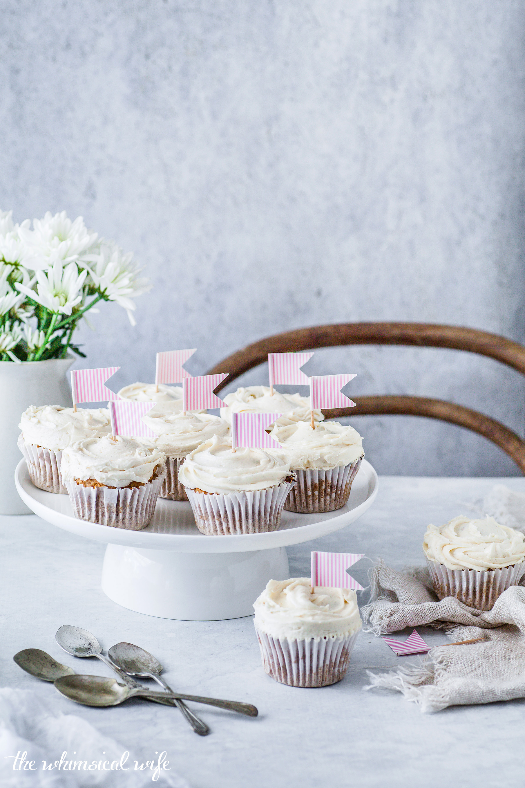 30 Cakes In 30 Days | 7. Chai Cupcakes With Honey Buttercream {GF, DF, Vegan & Nut Free} | The Whimsical Wife