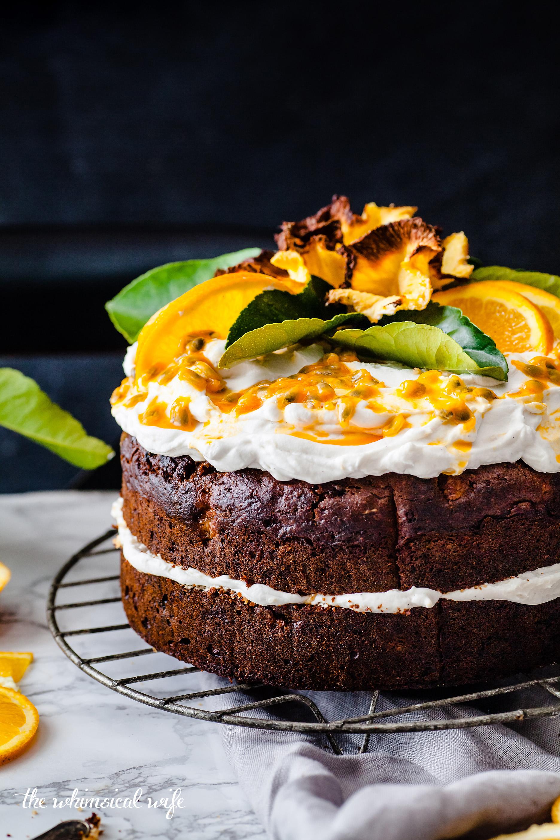 Vegan Humming Bird Cake With Zesty Lemon Coconut Cream | The Whimsical Wife