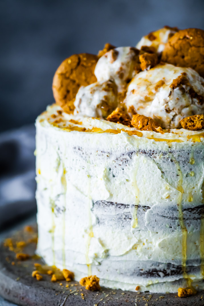 Honey & Ginger Cake With Lemon & Honey Buttercream {DF & GF} | The Whimsical Wife