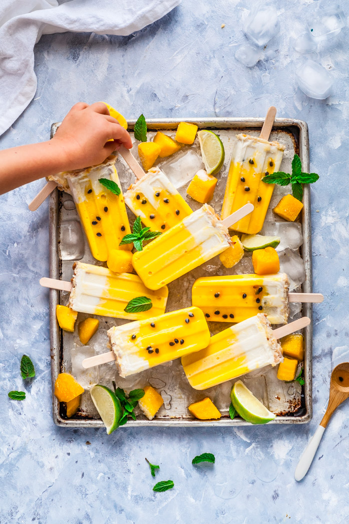 Mango, Passionfruit & Coconut Macadamia Popsicle's {Gluten & Dairy Free) | The Whimsical Wife