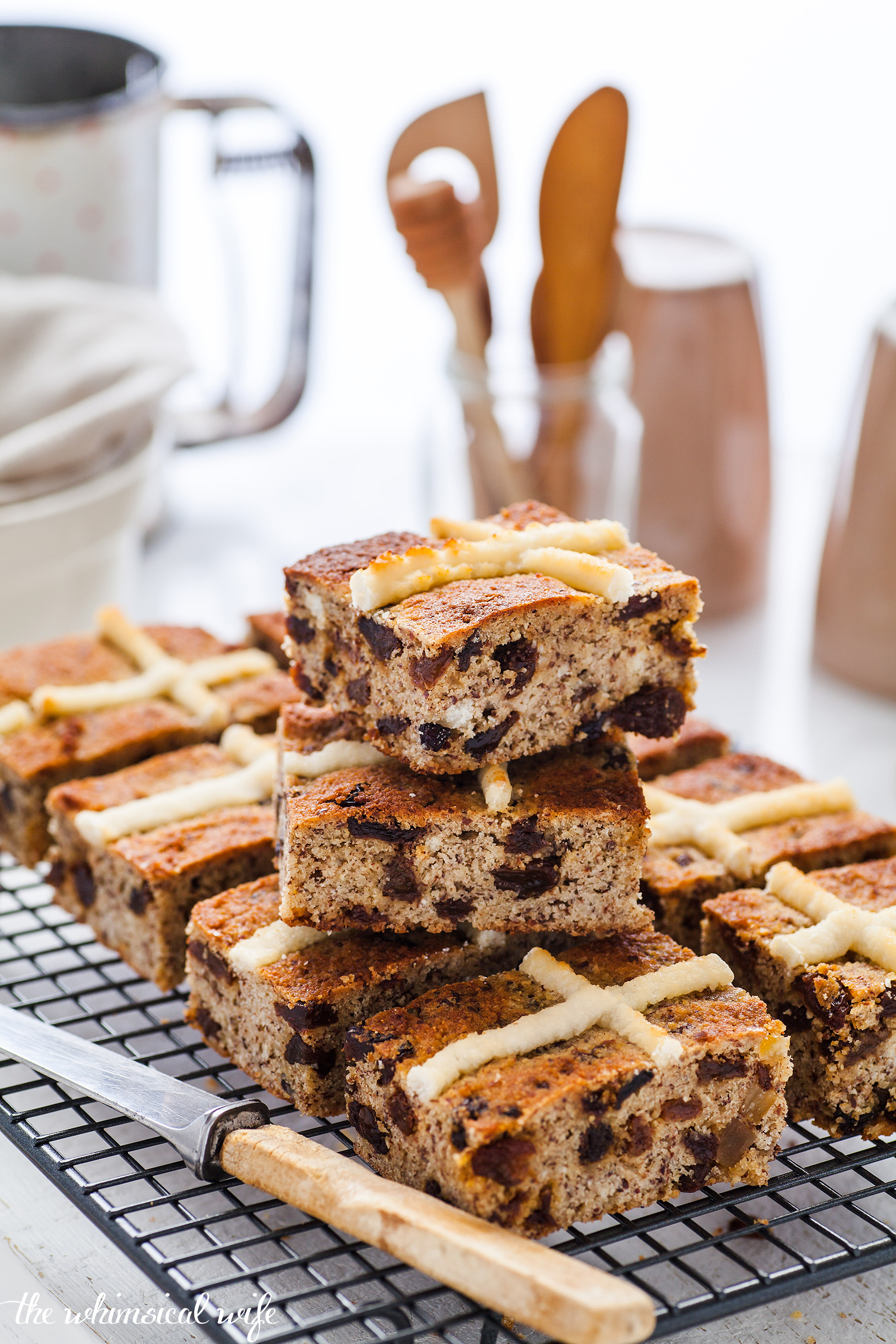 Hot Cross Bun Slice - Gluten & Dairy Free | The Whimsical Wife