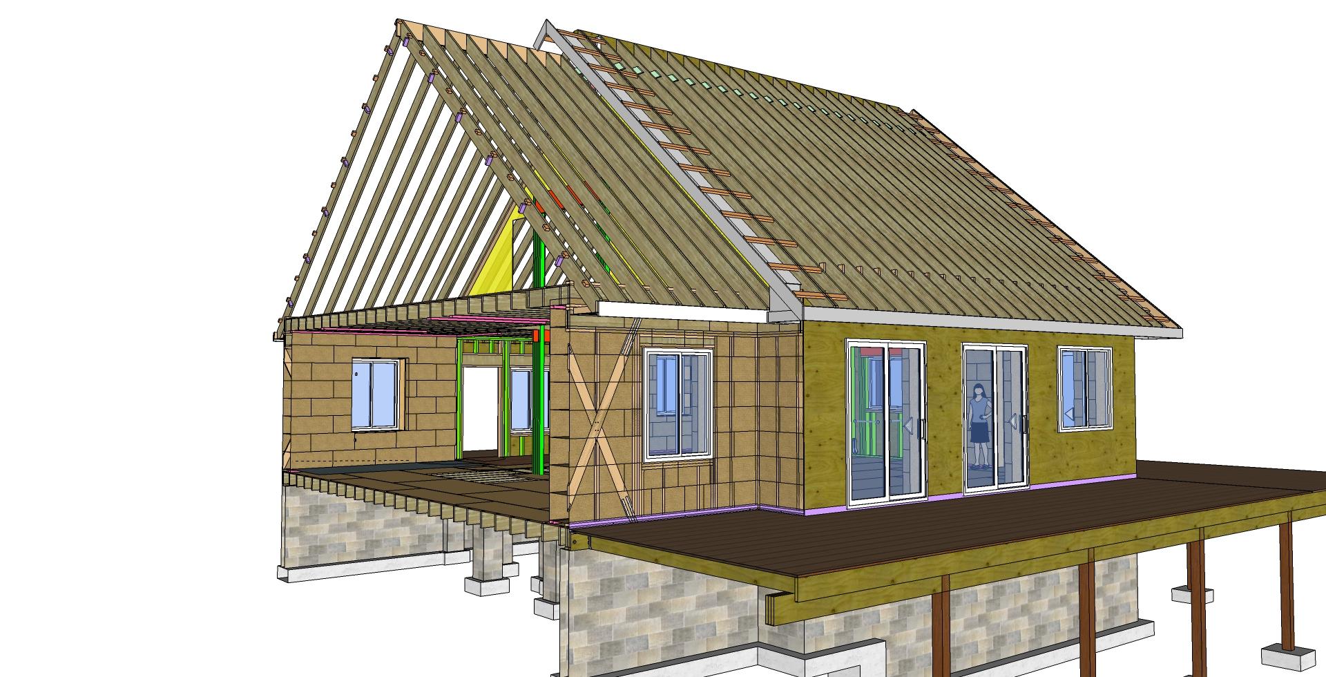 Straw Bale Home designed for Annika Valikhovskaya and Joe Orenstein in Alton, VA.