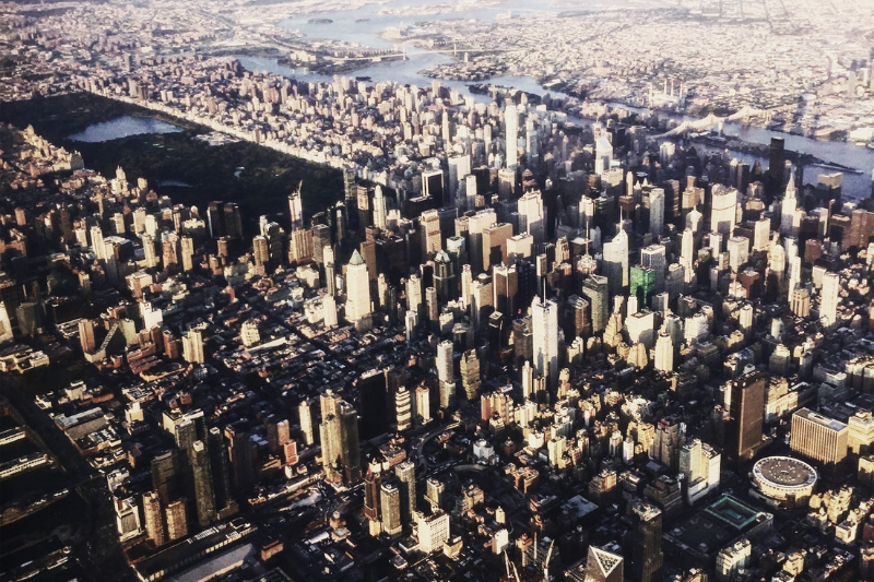 Picture of New York City from the Sky