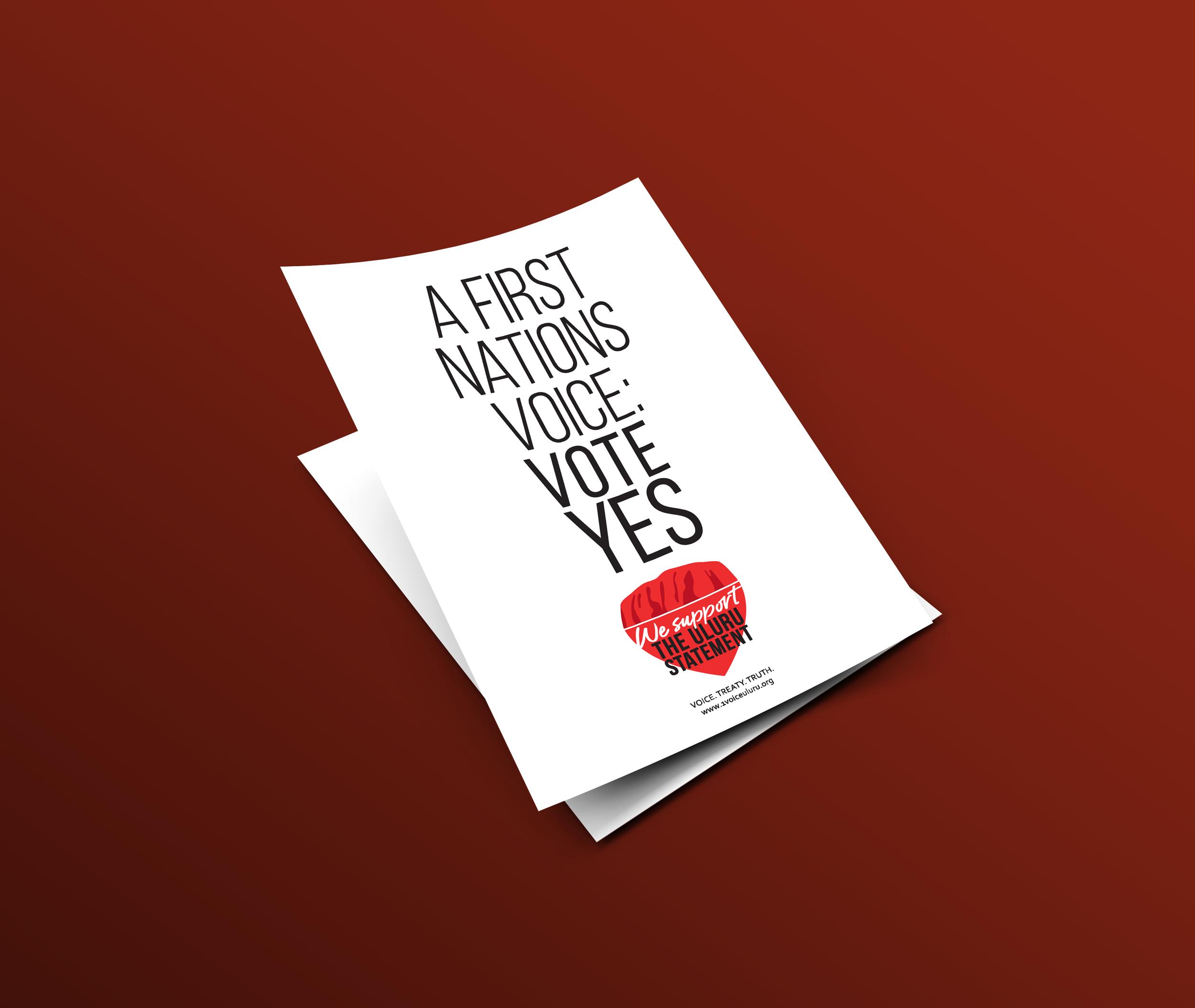 1 Voice Uluru A4 Poster -