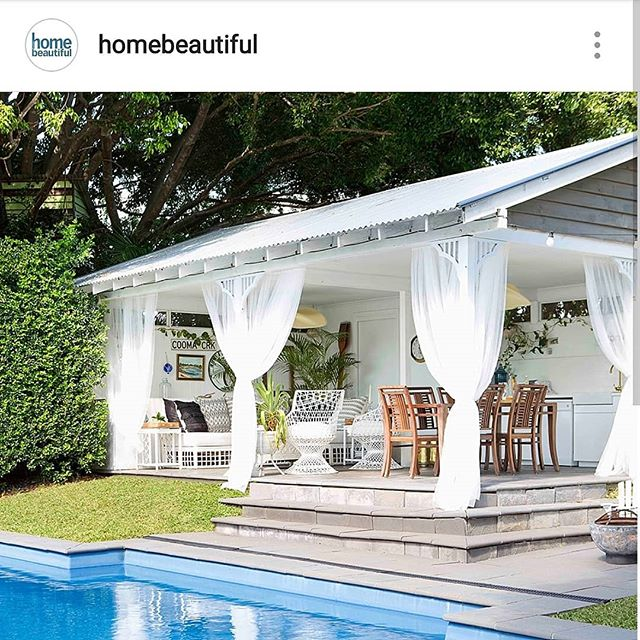 Well hello again! @homebeautiful  So lovely to see a pic from our feature a couple of years back on the Home Beautiful page this morning. Can feel those summer vibes rolling in 📷💙🌴