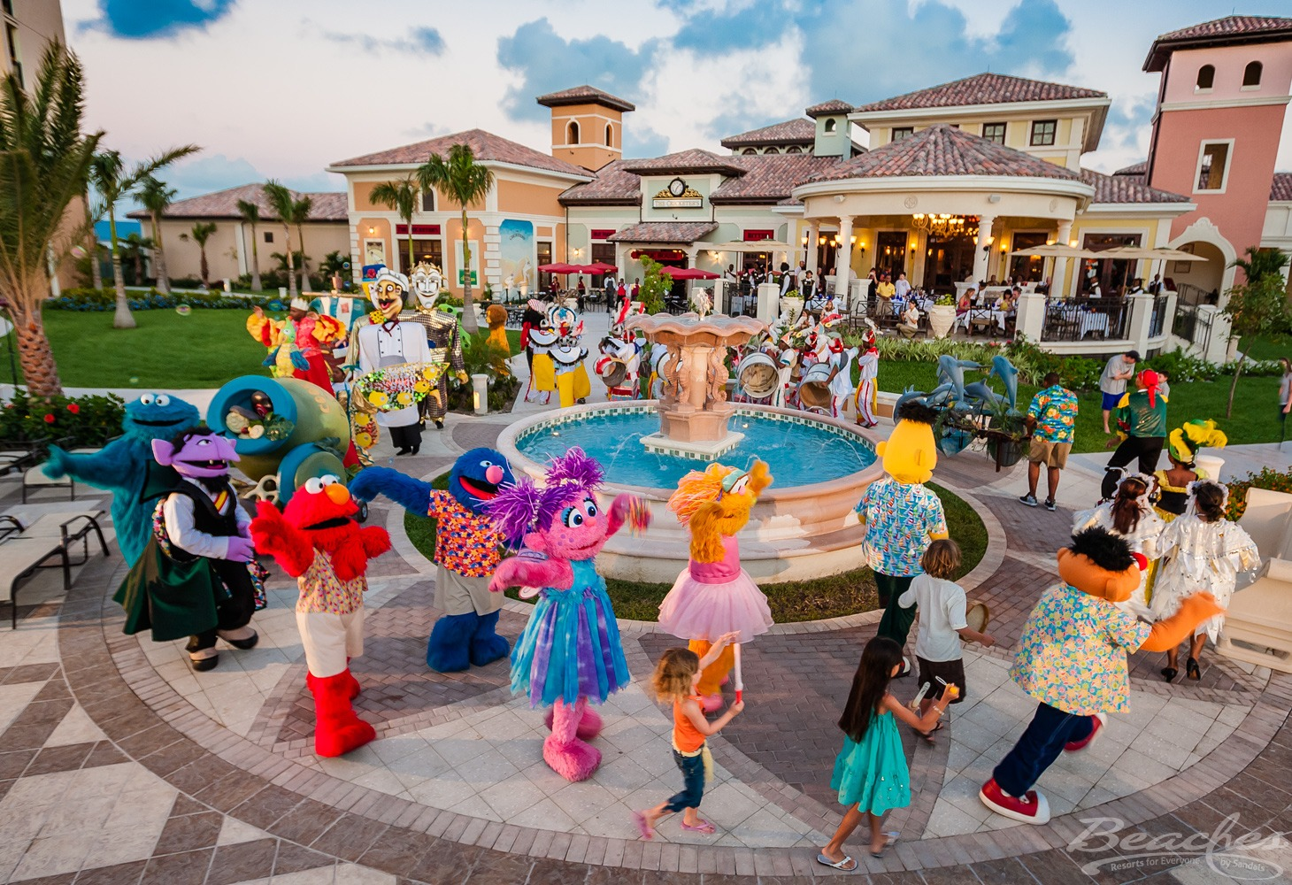 Family Vacations    Family reunions? Girls Trips? All inclusive getaway for a enjoyable break?  There is some much fun to be had across three properties. The best waterparks, beaches, kids camps, Sesame Street character breakfasts, Sesame Street character parades and fun for all.
