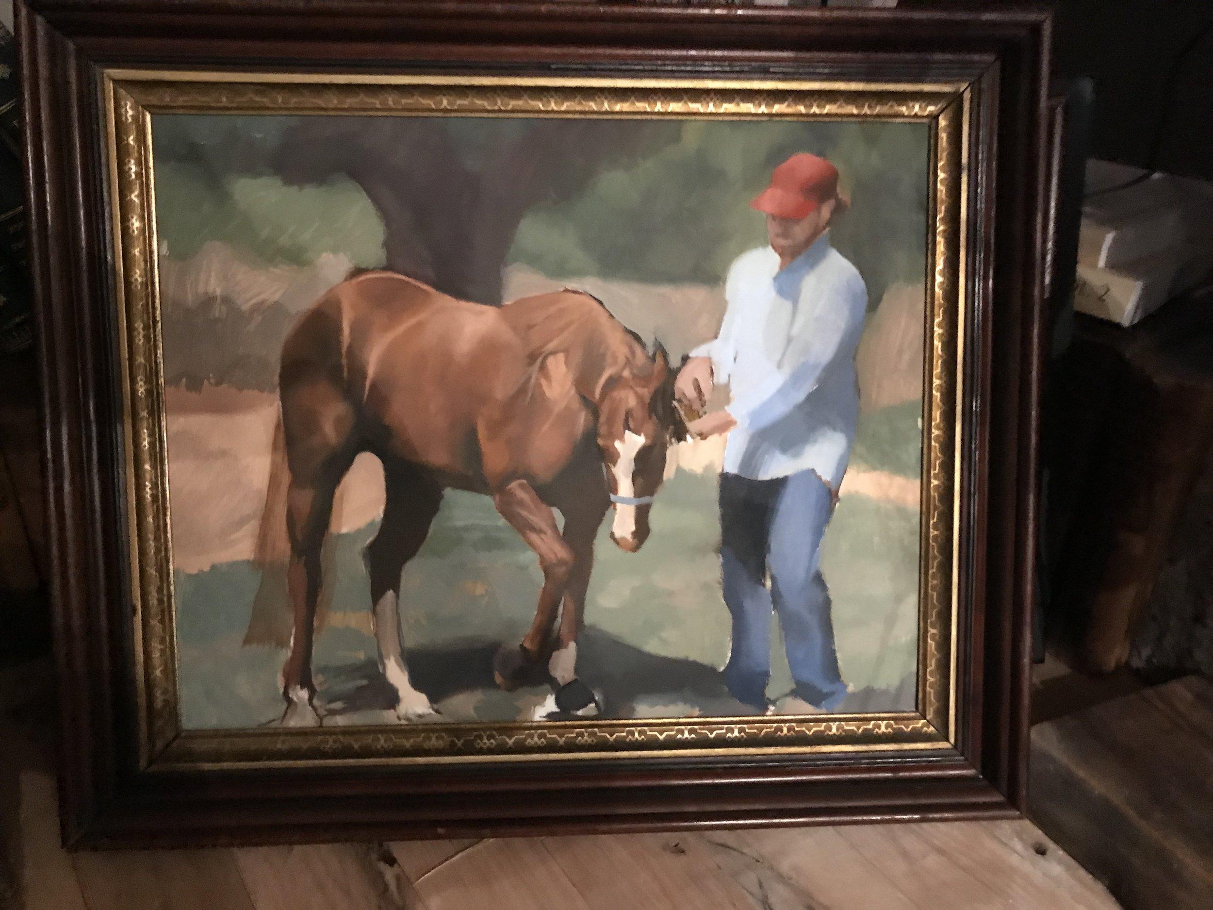 Carl and Scarlett OIl on Canvas