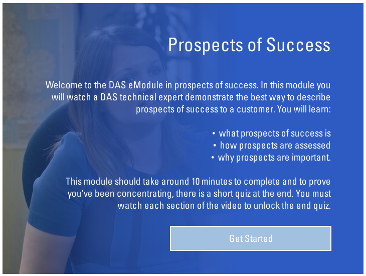 Interactive video - This module was built around a talking-head video. This module featured a branching pathway to assist call-handlers to make decisions.