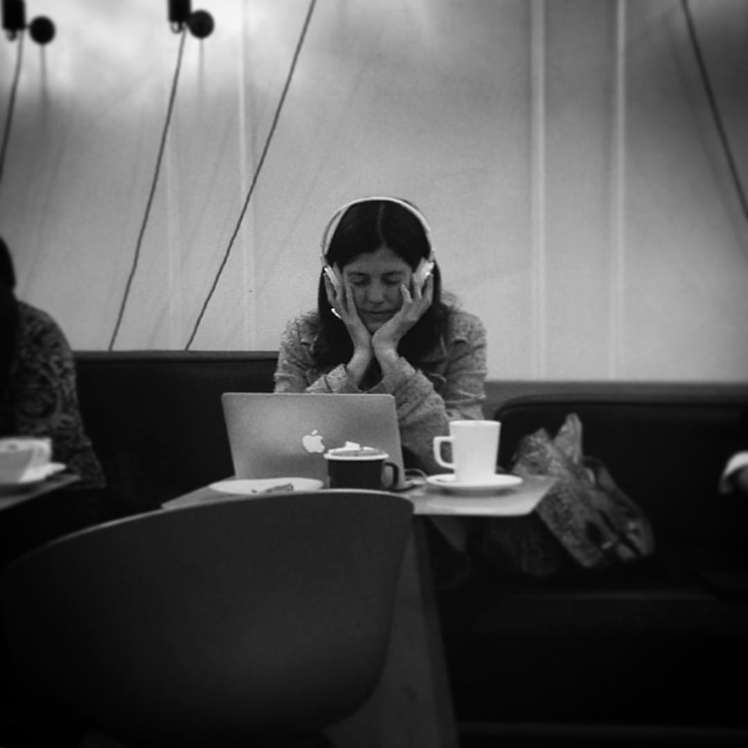 This lady sat across from me as I ate pancakes this morning with @bexdora. She was SO INTO the music she was listening to. It was beautiful to see.  (at Blackheath, London)