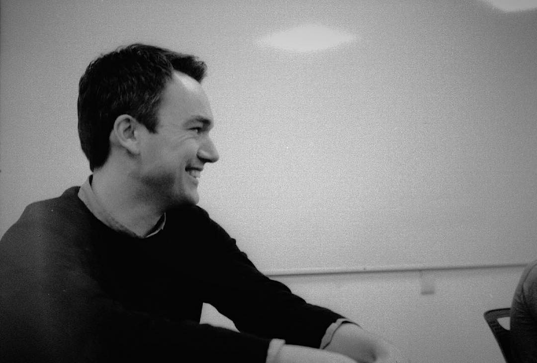 This photo was taken during a lecture I was giving with Tom, at the University we both work at.