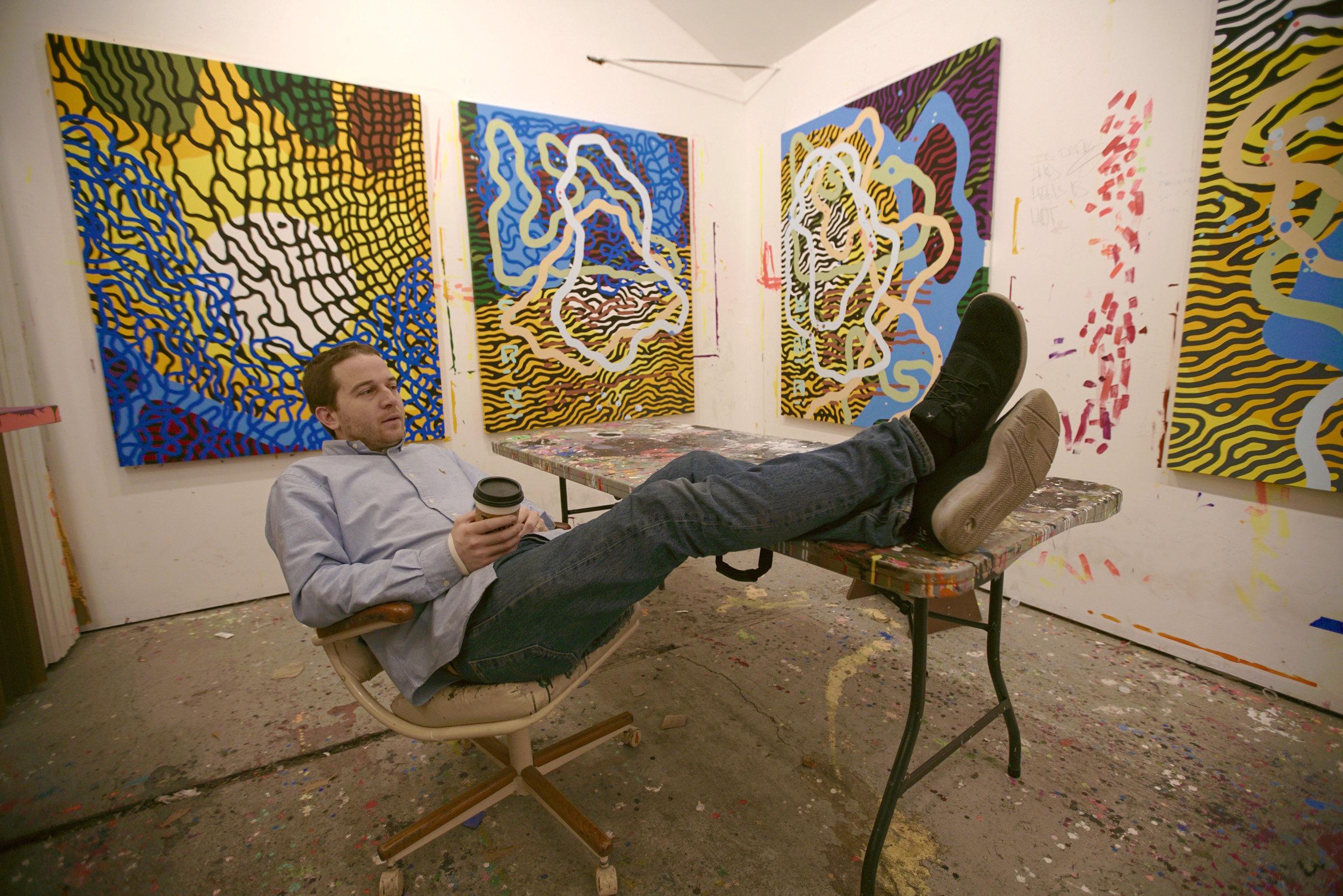 sam friedman art gallery bangkok thailand running