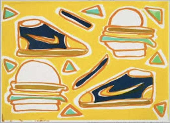 Cheeseburger Deluxe - KATHERINE BERNHARDT