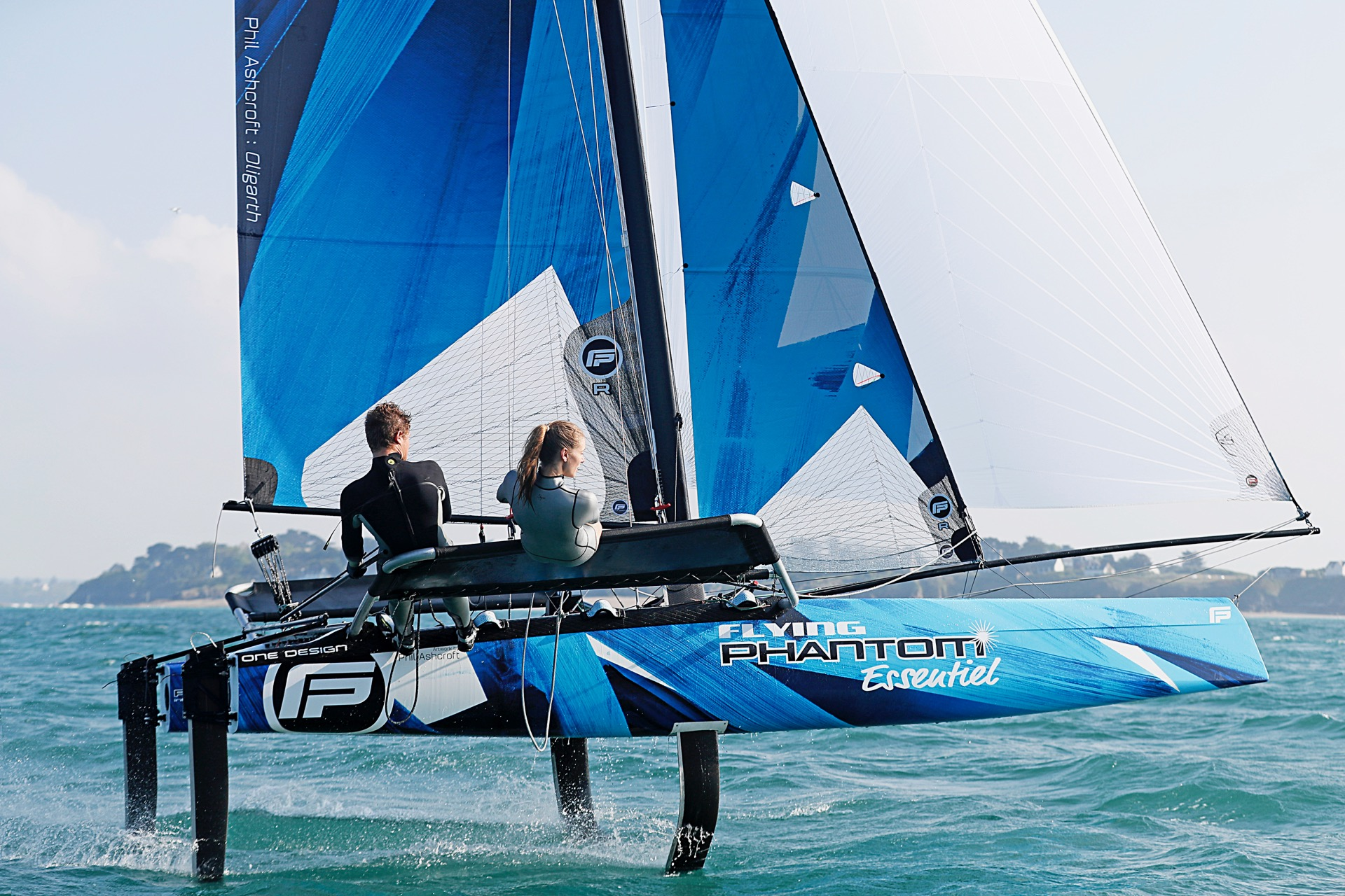 January 2017 - Launch of the Flying Phantom ESSENTIEL a more accessible, freeride foiling catamaran