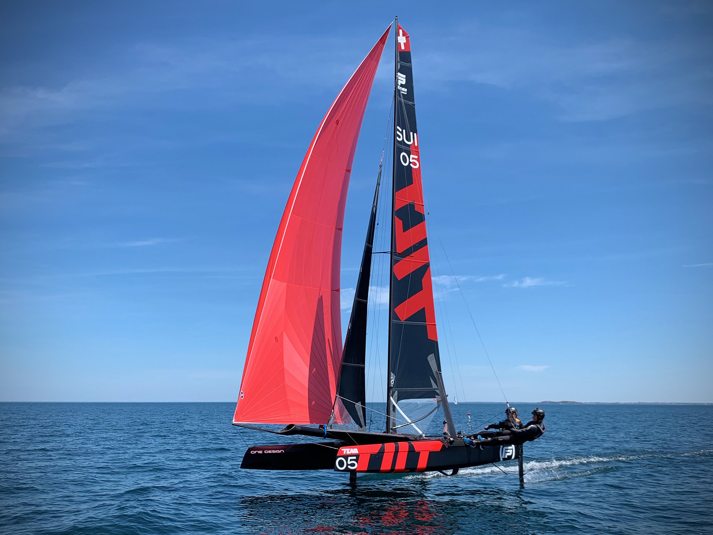 May 2019 - The first Flying Phantom Ultimate hits the water