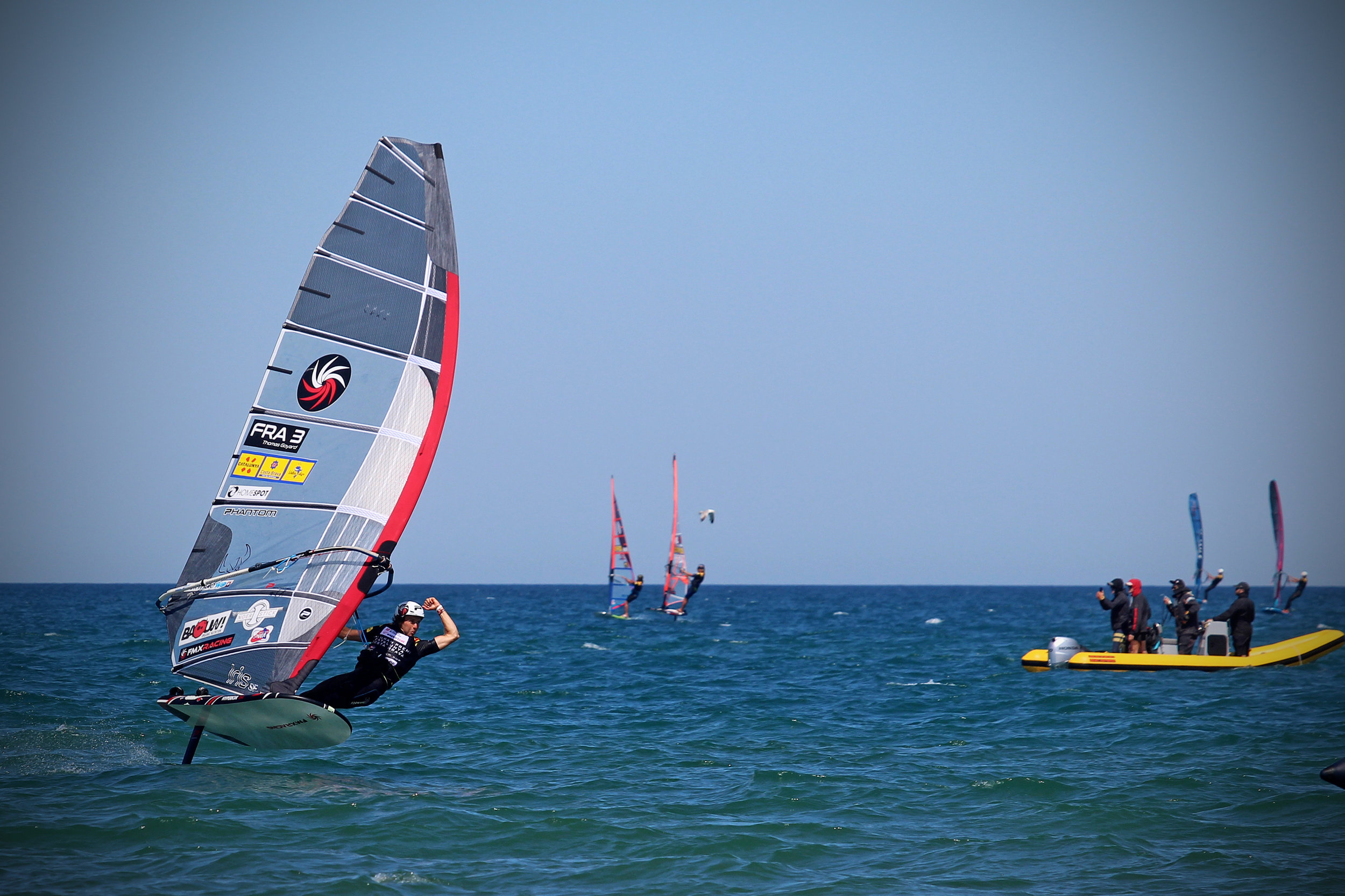 June 2019 - Thomas Goyard wins the PWA world cup event in Costa Brava with Phantom sails and foil
