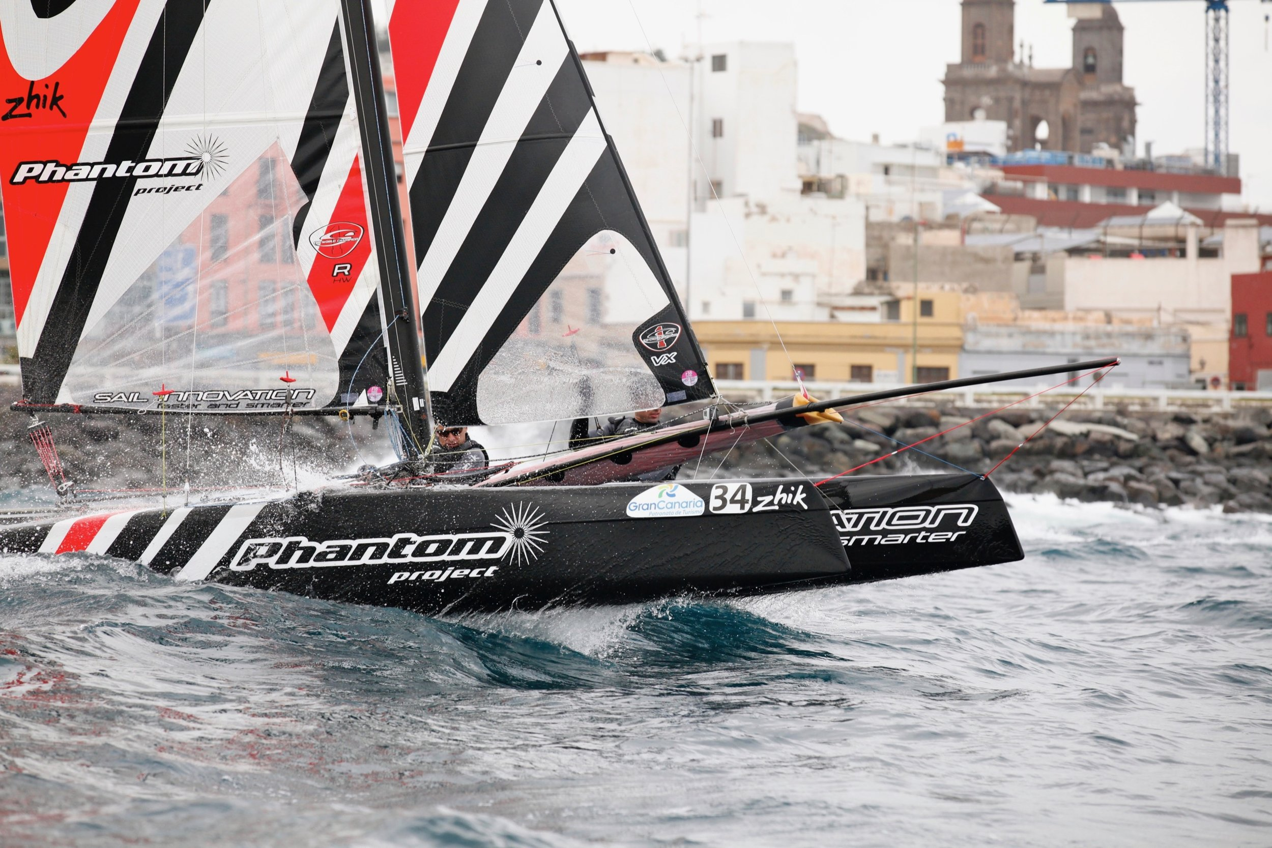 December 2011 - Olivier Backes & Arnaud Jarlegan win the F18 European championship in Gran Canaria