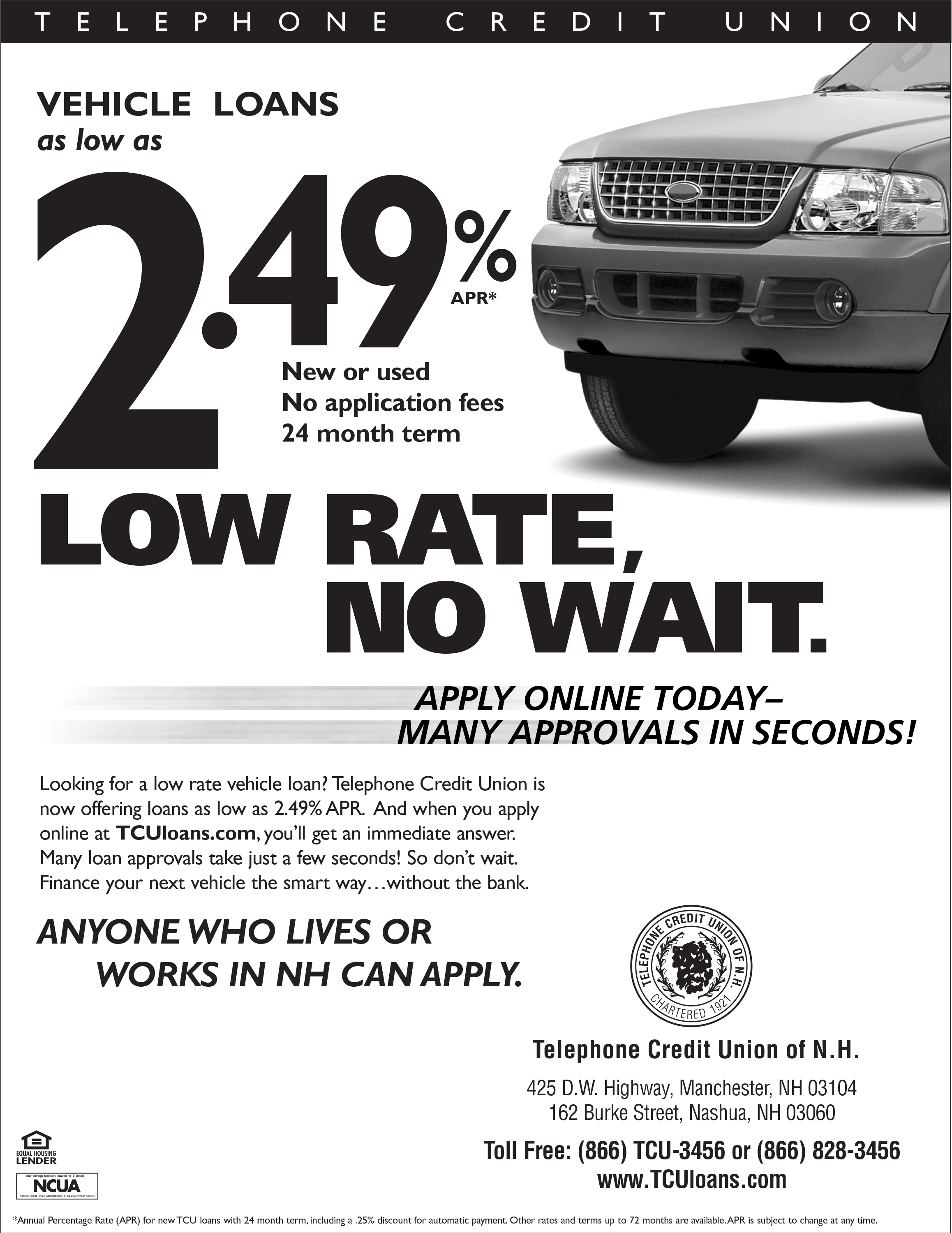 Telephone Credit Union - Car Loan Ad