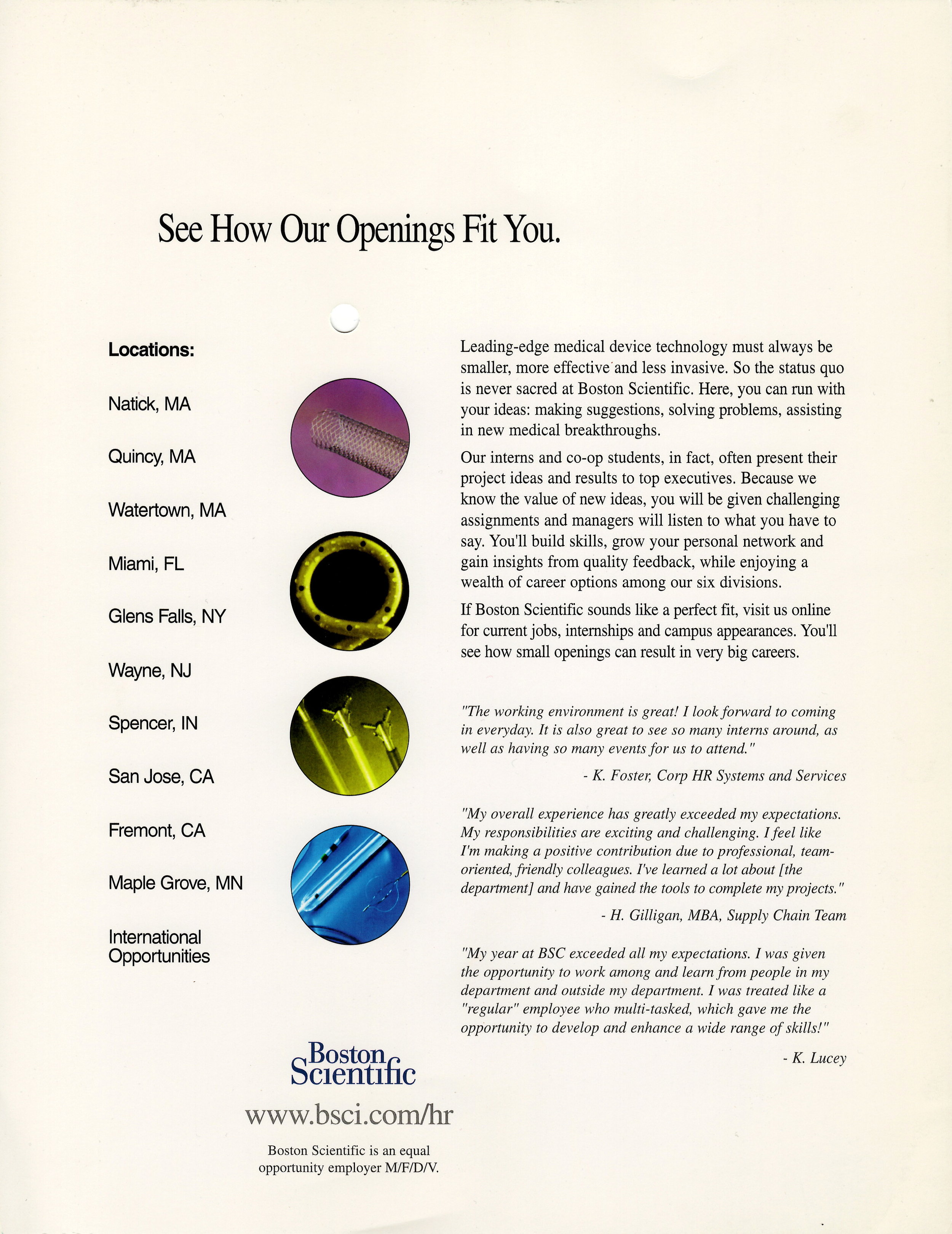 Boston Scientific - Collegiate Flyer