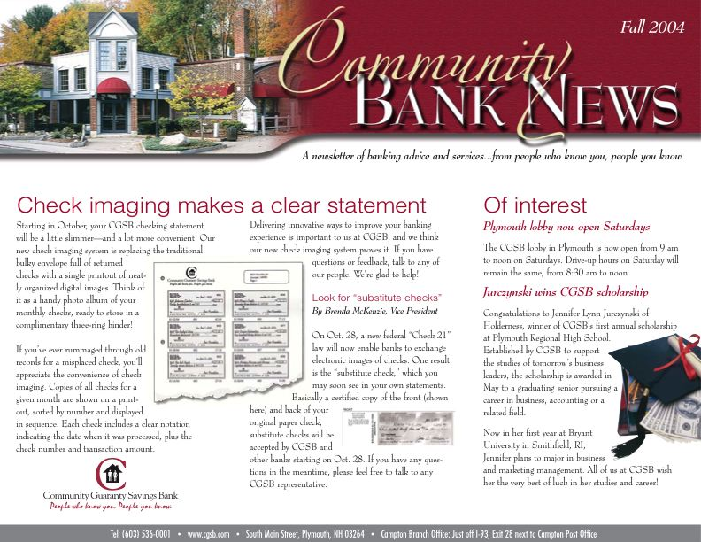 Community Guaranty Savings Bank - Newsletter