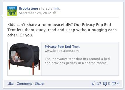 Brookstone Corp. - Facebook Post