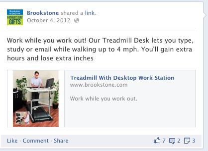 Brookstone Corp - Facebook Post