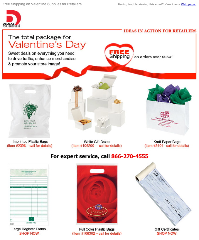 Deluxe Corporation - Retail Packaging Email