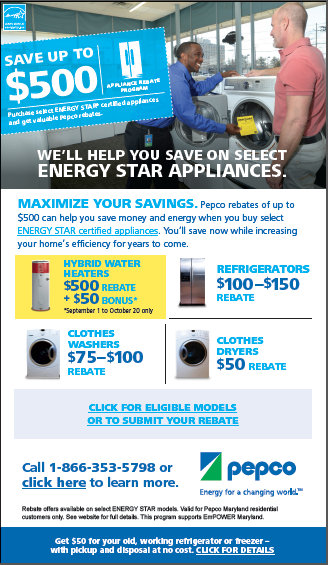 Pepco - Appliance Rebates Email