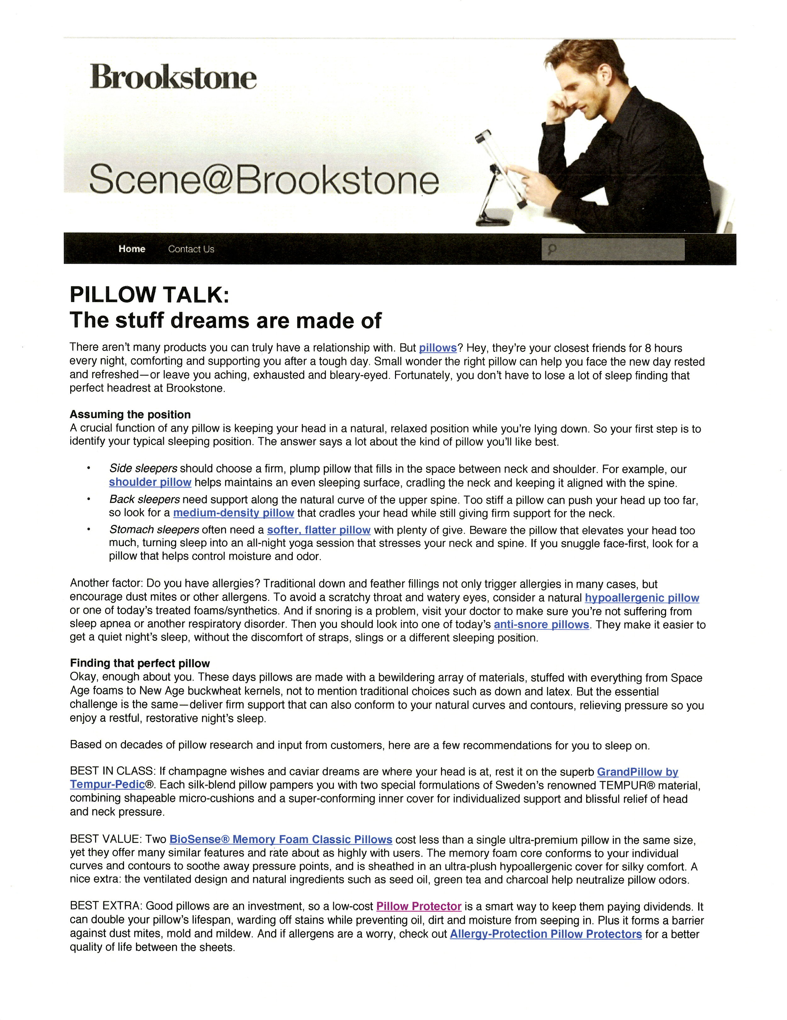 Brookstone Corp. - Blog Entry
