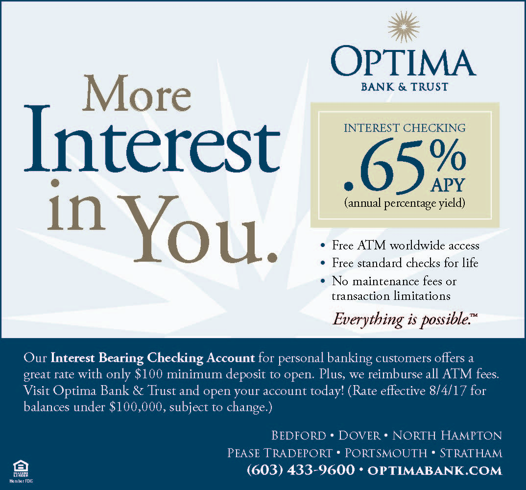 Optima Bank & Trust - Interest Checking Ad
