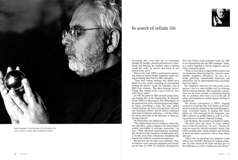 Profile of Scientist for SKF R&D Brochure