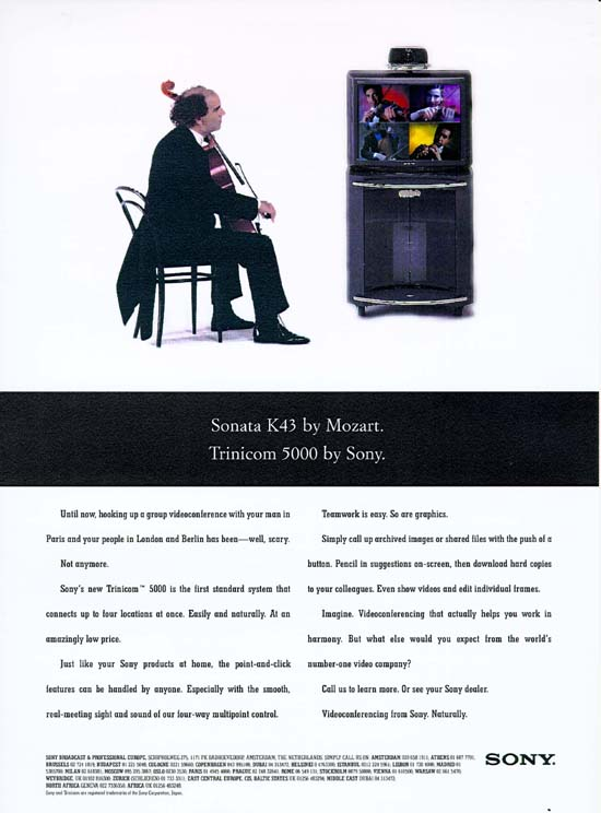 Launch Ad for Sony Videoconferencing