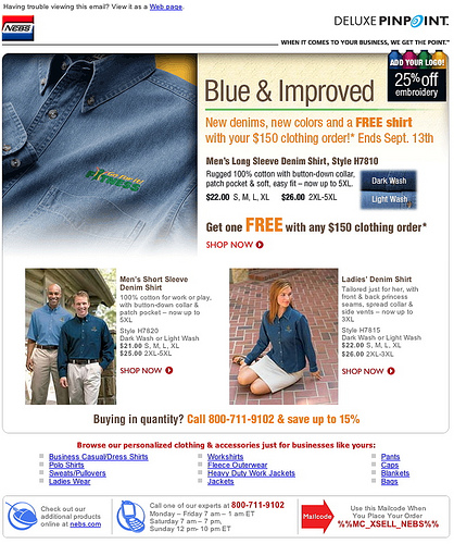 Email for Personalized Denim Workwear