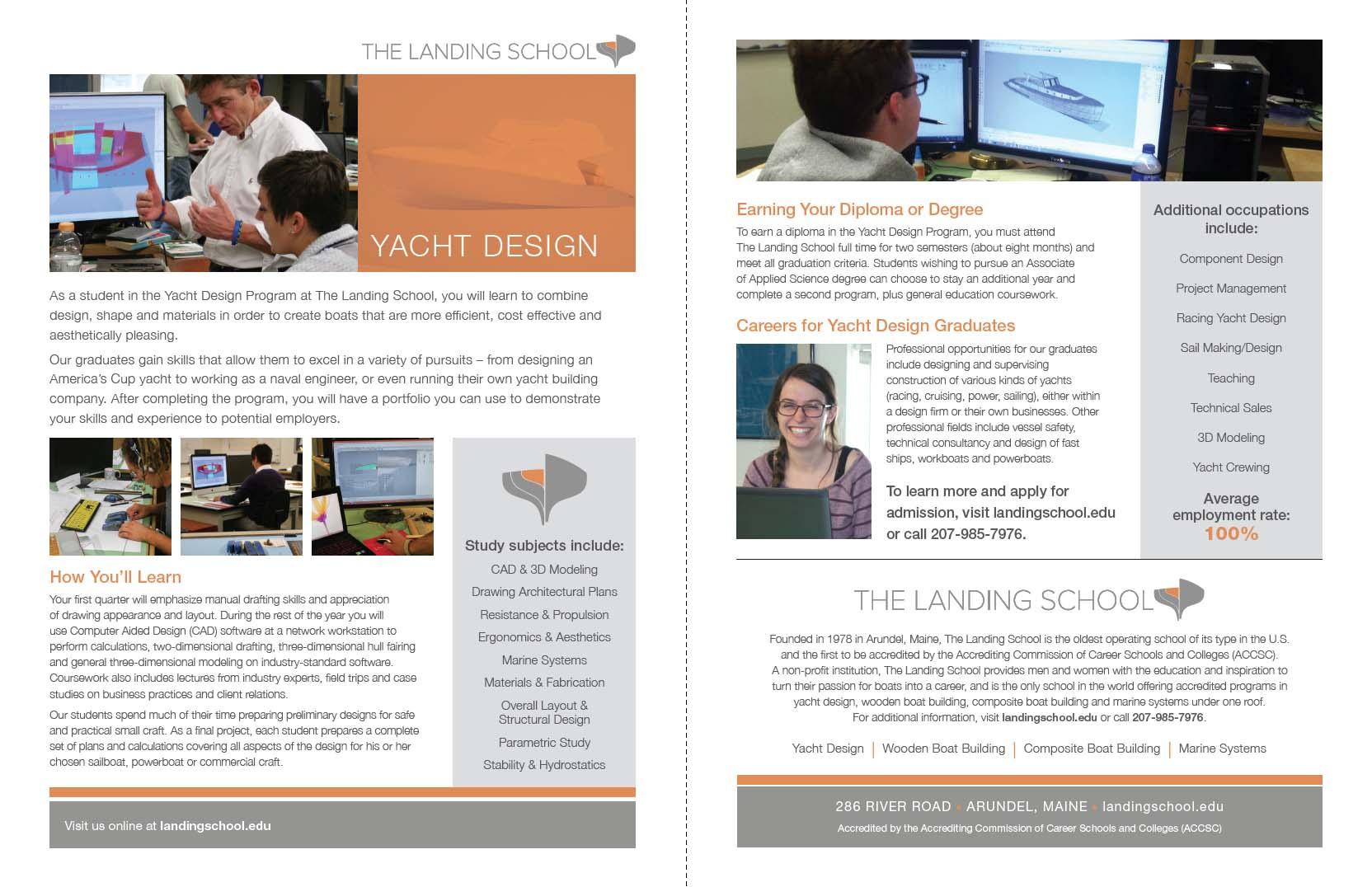 Trade School Fact Sheet for Yacht Design Curriculum