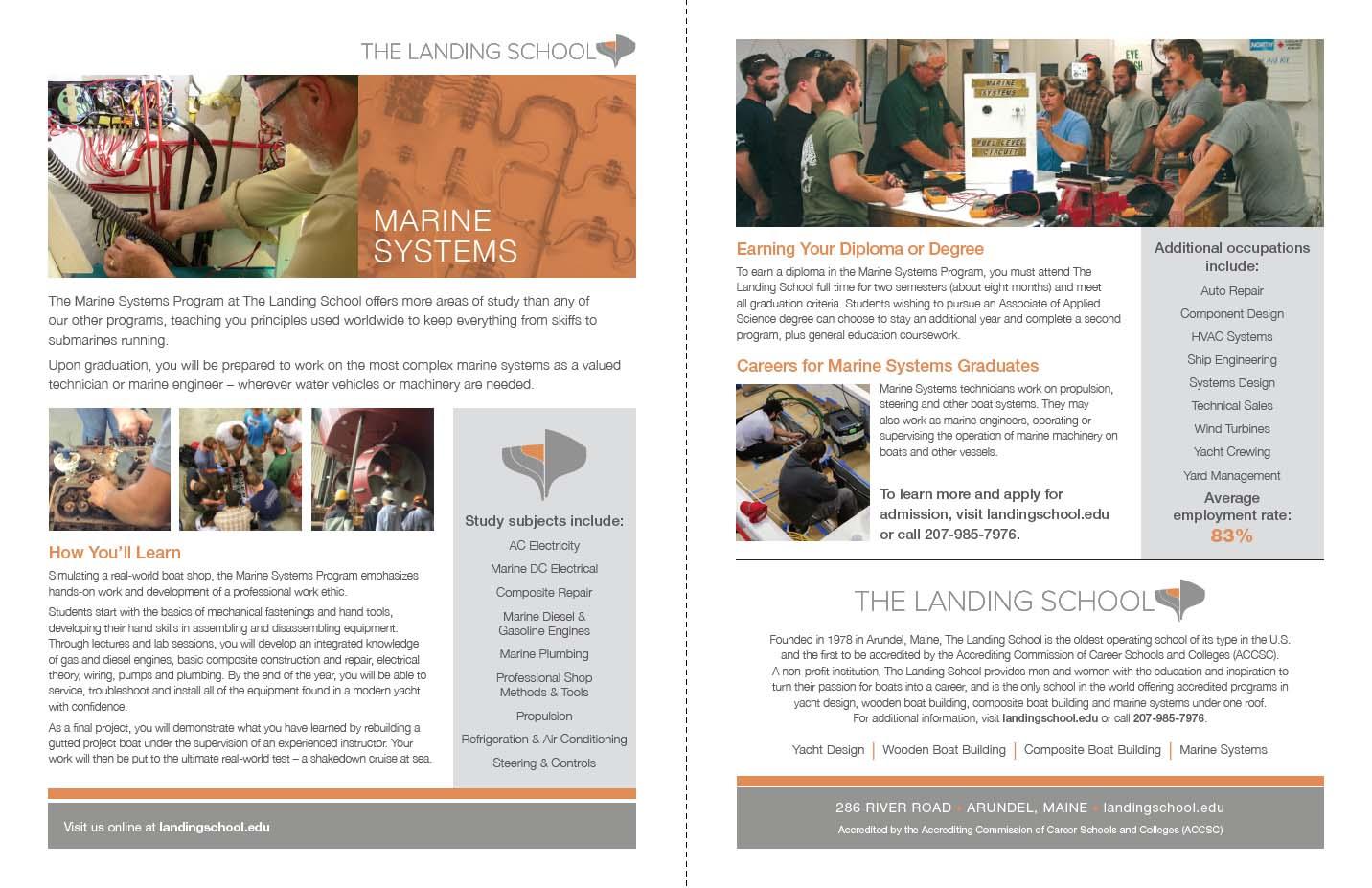 Trade School Fact Sheet for Marine Technology Curriculum