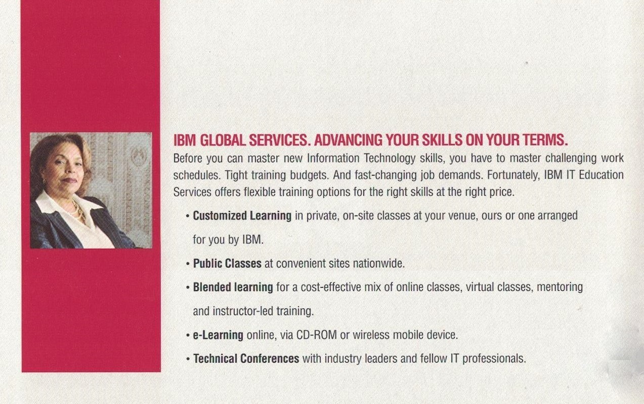 Mailer for IBM IT Education Services - Intro Panel