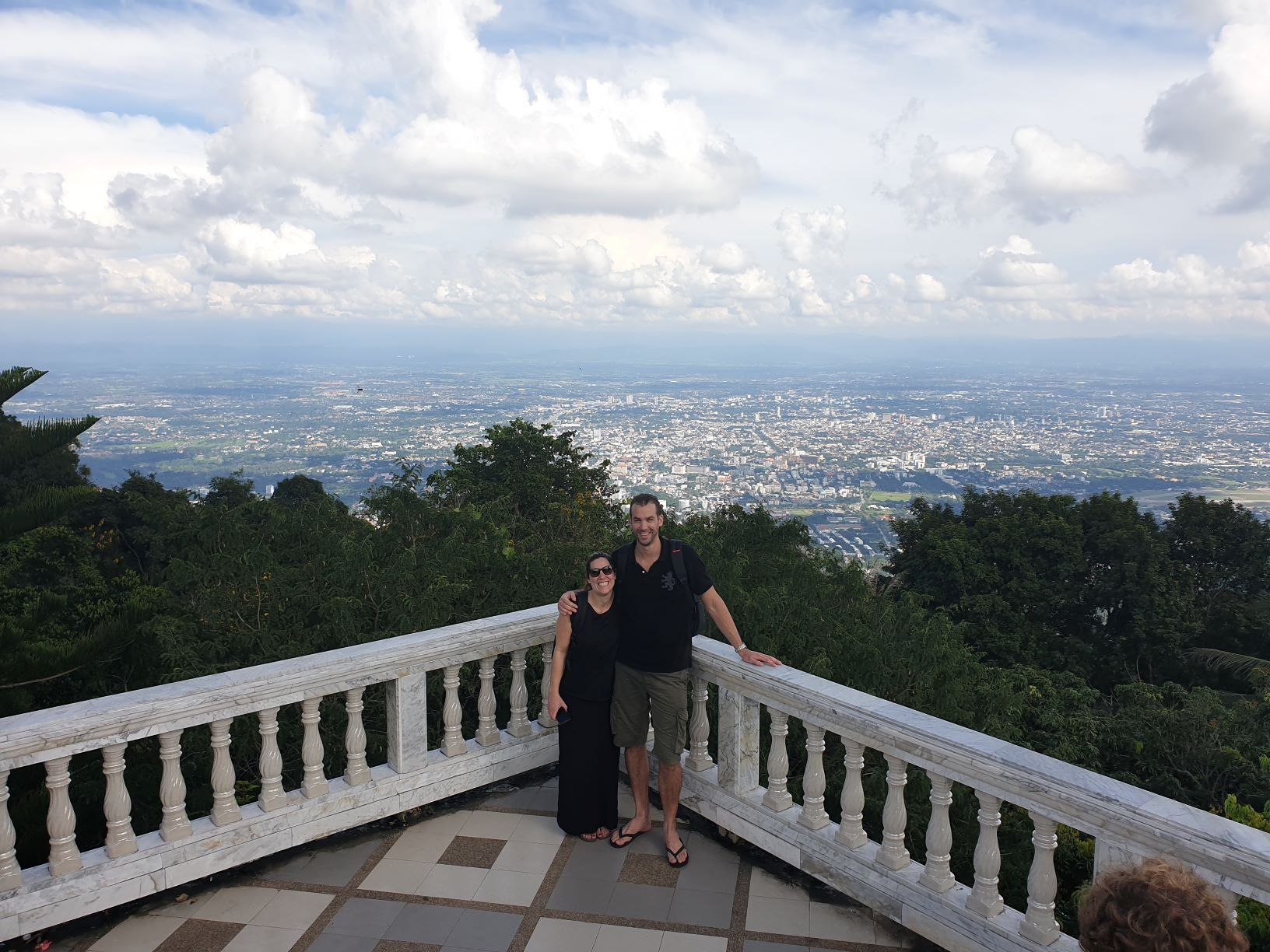 View of Chiang Mai city from Doi Suthep Temple
