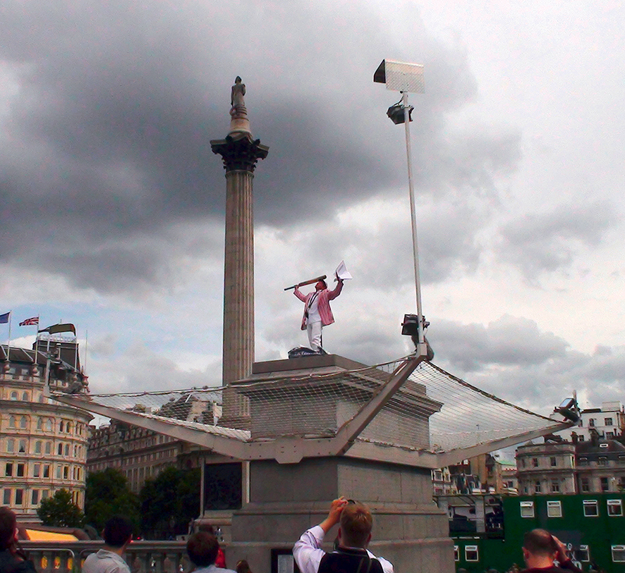 Antony Gormley, ONE & OTHER, 2009. The Mayor's Fourth Plinth Commission, Trafalgar Square, London. © the artist