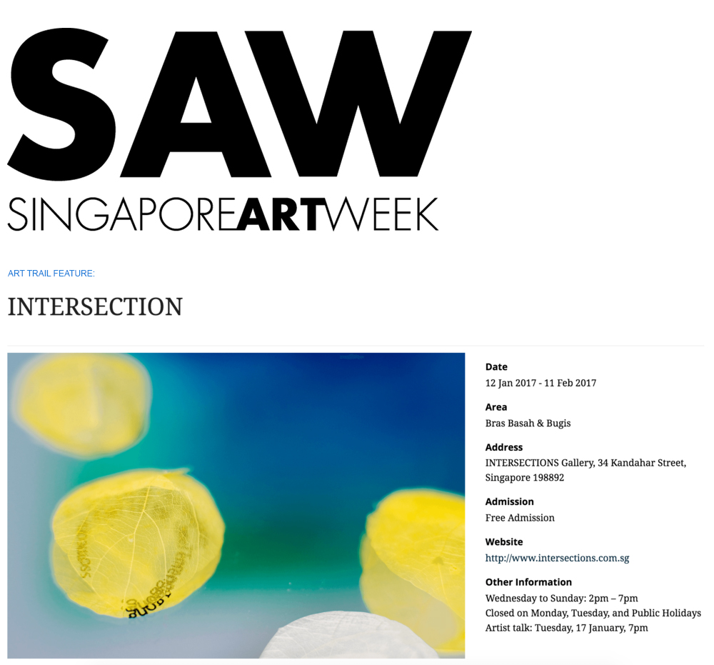 Singapore Art Week 2017, Event Feature