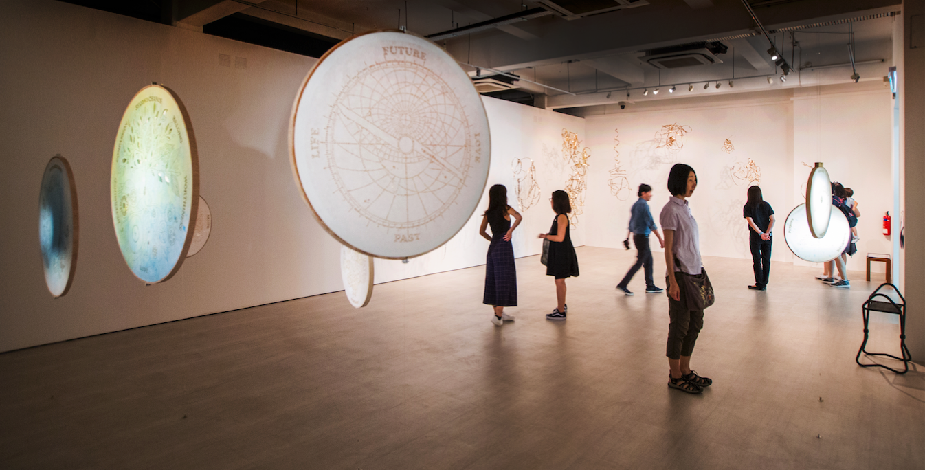 Clockwork moons series, art by Nicola Anthony (c), 2017, commissioned by Singapore Art Museum, 4
