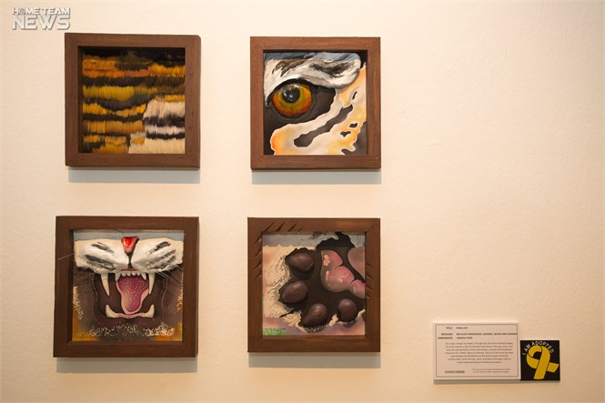 """Feral cat"" uses handcraft, batik and ceramics to create a story of change and reform. PHOTO: Jaiesh Sachi"