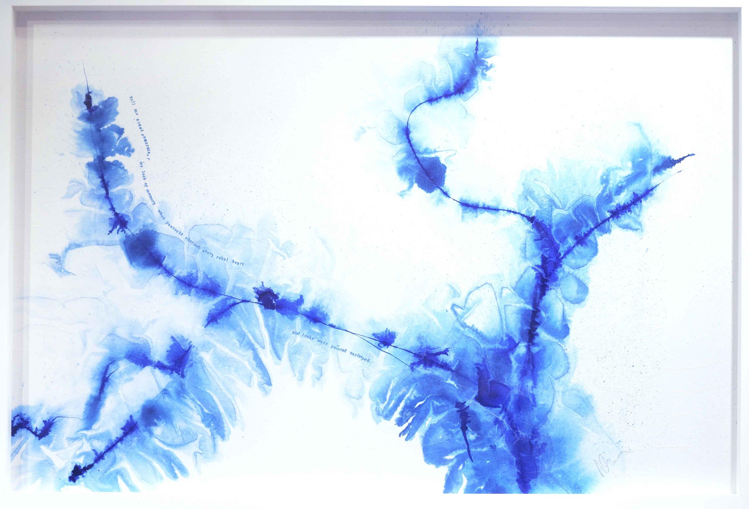 Nicola Anthony, Beneath the Gleaming Glisten, Ink on tree-skin paper, 50cm x 73cm, 2016_(c) Nicola Anthony