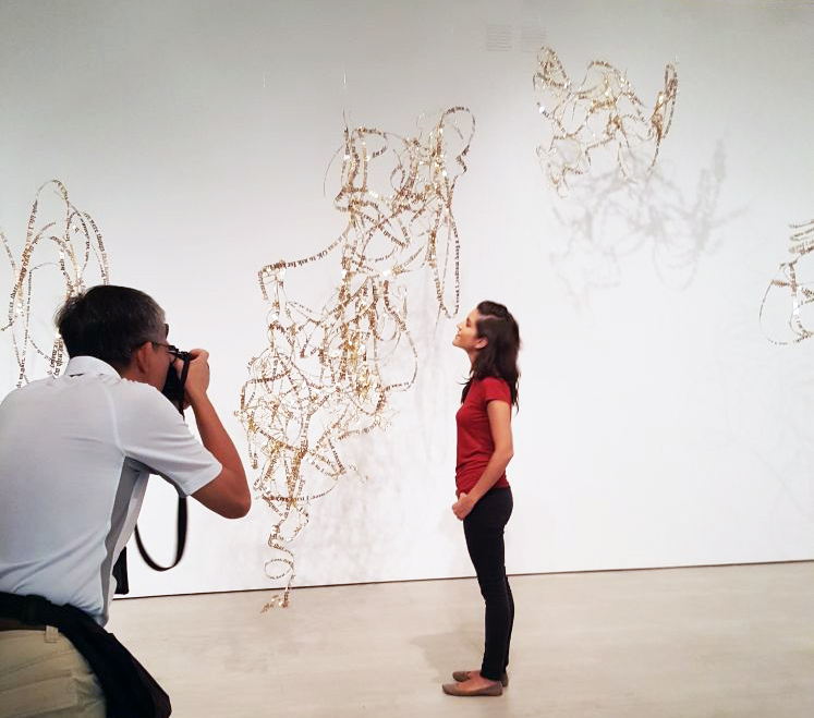 nicola being photographed with her work, 2017, HAP, Singapore Art Museum.jpg