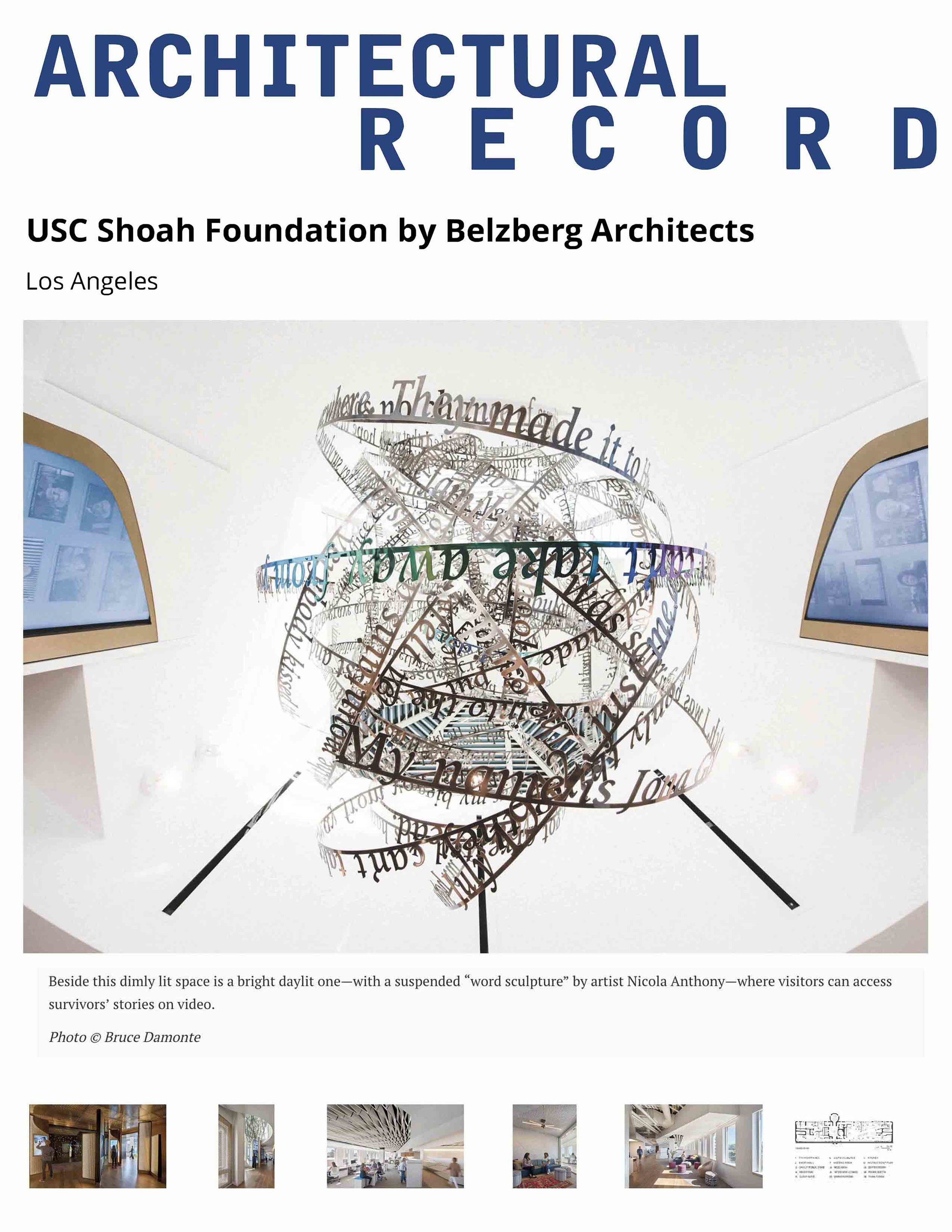 2019.03.07 Architectural Record_Nicola Anthony_USC Shoah Foundation