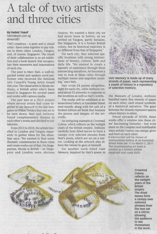 30_12_16_TheBusinessTimesArts-Hardcopy-NicolaAnthony-CrownedColony-Intersection