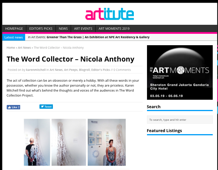 2013_Artitute_NicolaAnthony_WordCollectionProject