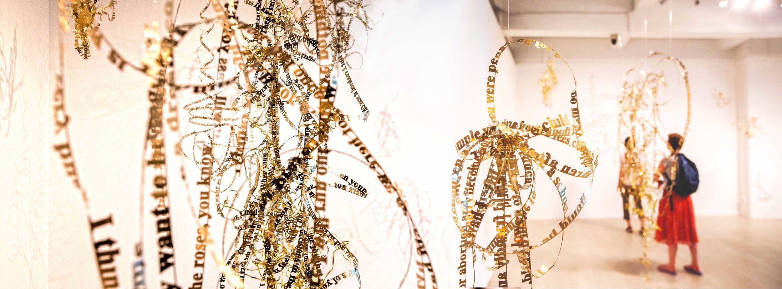 Nicola Anthony, text sculptures 2017