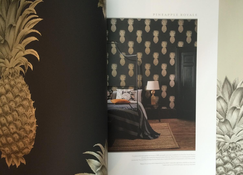 Carrier Deverson Interiors, Sanderson Pineapple Royale Wallpaper