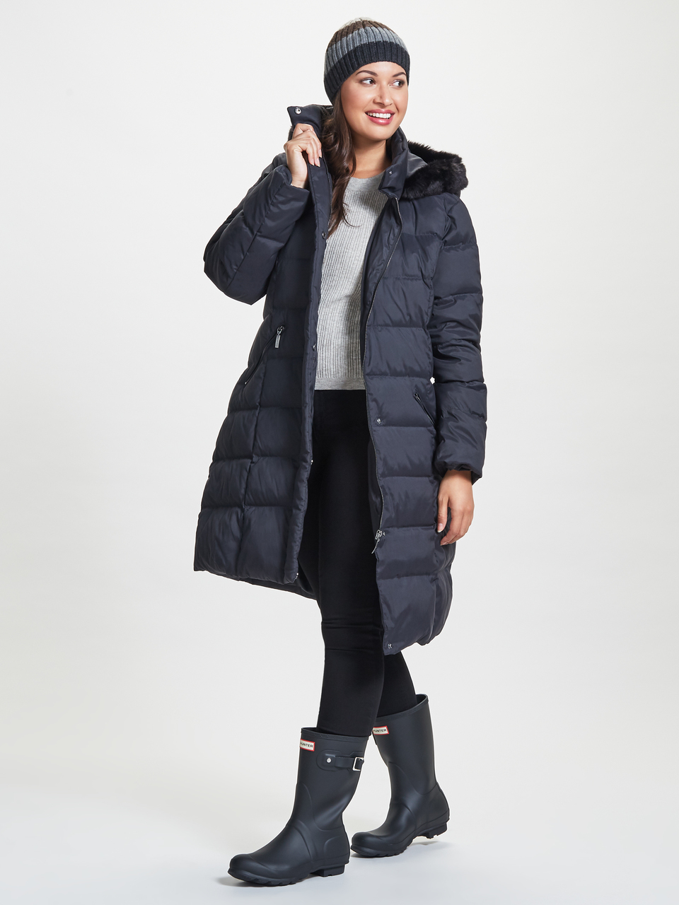 ^ The puffer coats are all 60% down and 40% feather, with fleece lined pockets.